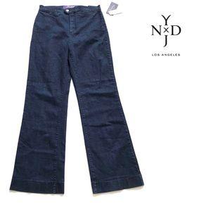 NWT NYDJ Wide Leg Trouser High Waisted Jeans Sz 16